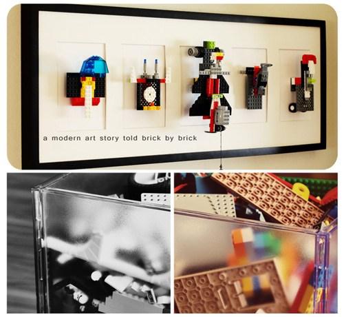 lego wall art design