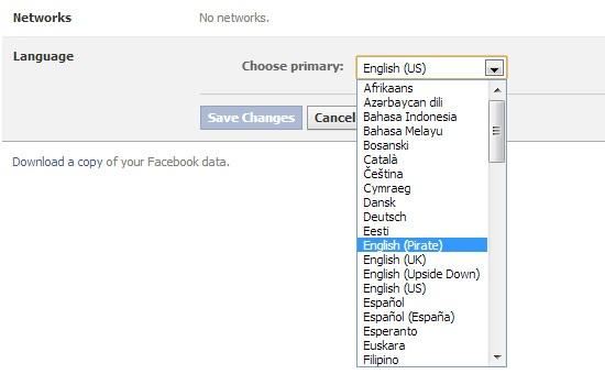 facebook pirate english