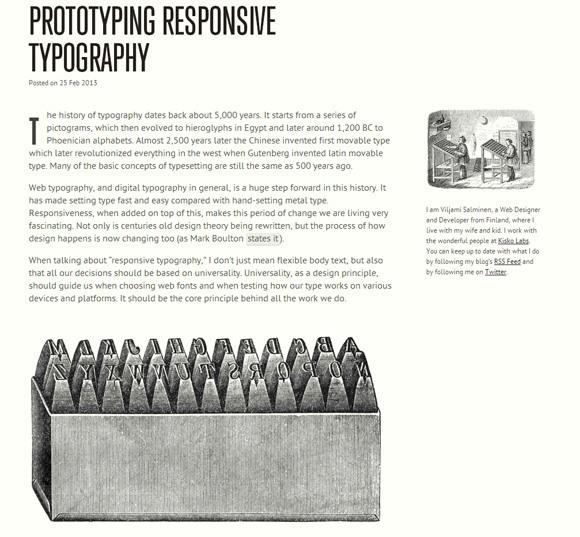 Viljamis prototyping typography