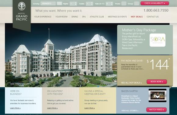 beautiful hotel web designs