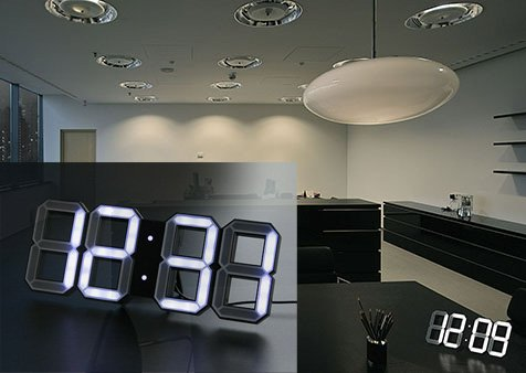 white-white-clock