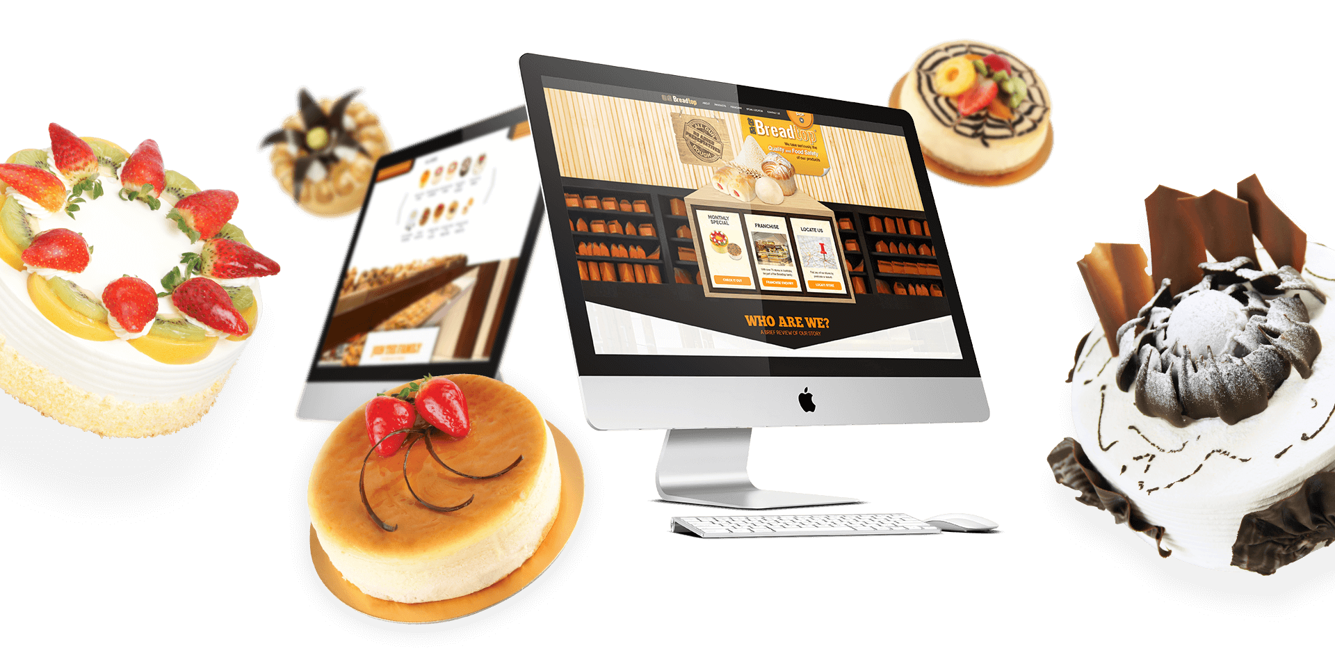 Desktop Views of Breadtop Website Home
