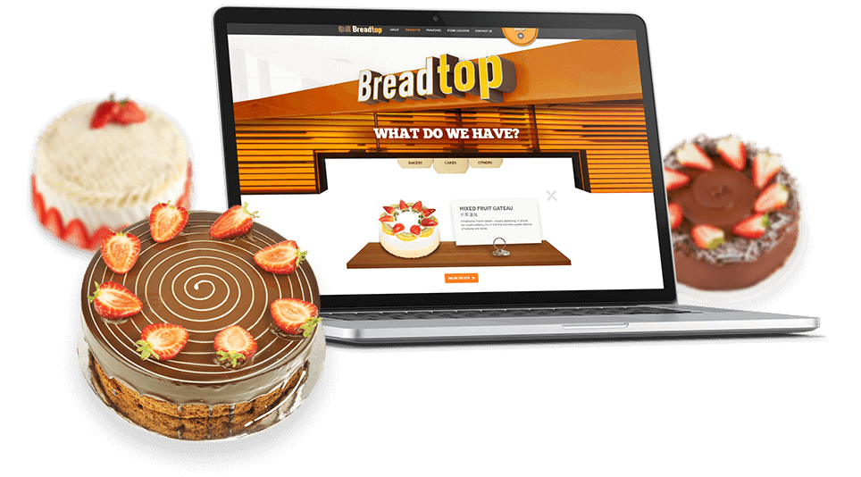 Laptop View of Breadtop Cakes