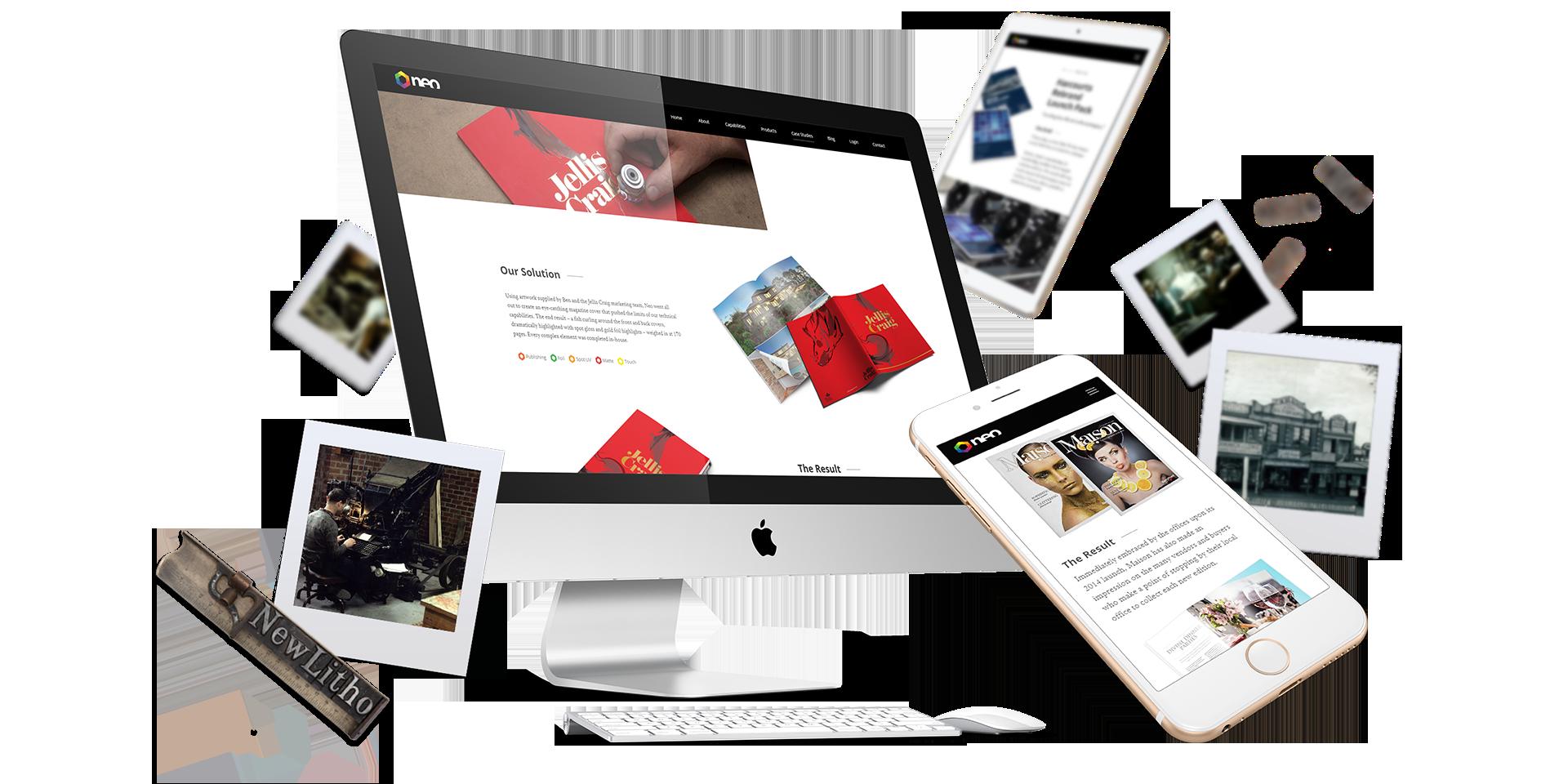 desktop and mobile of website design