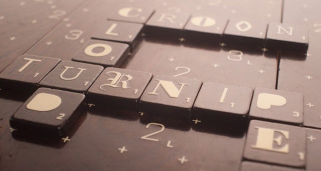 Designer scrabble with varied typefaces