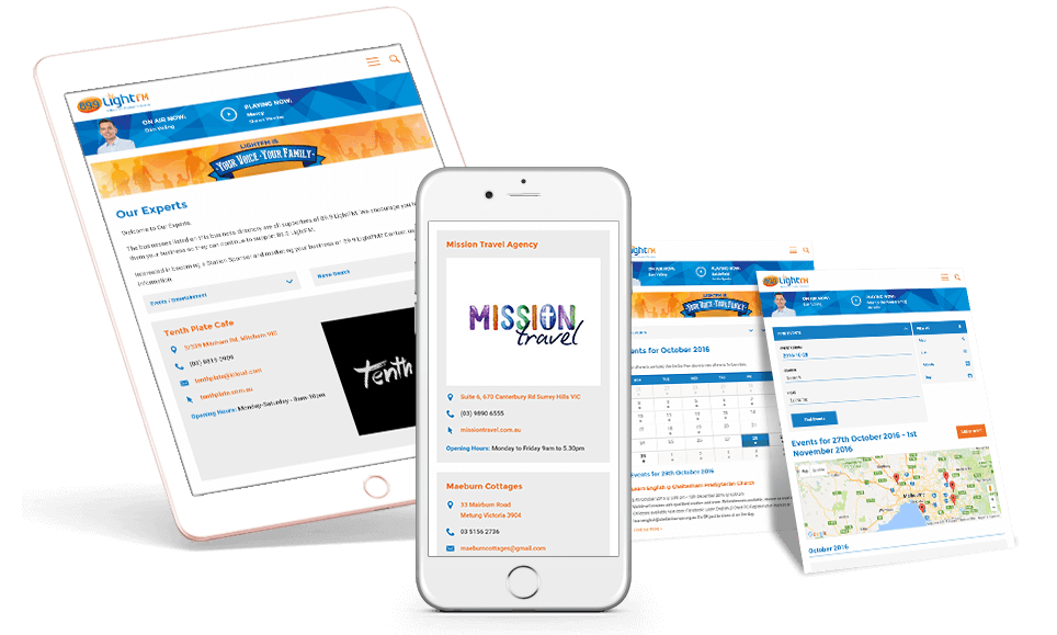 Responsive Views of LightFM Website Subpages