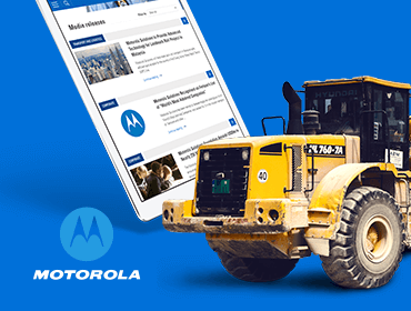 Motorola Website on Tablet with Tractor