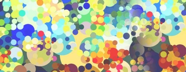 Composition of various coloured dots