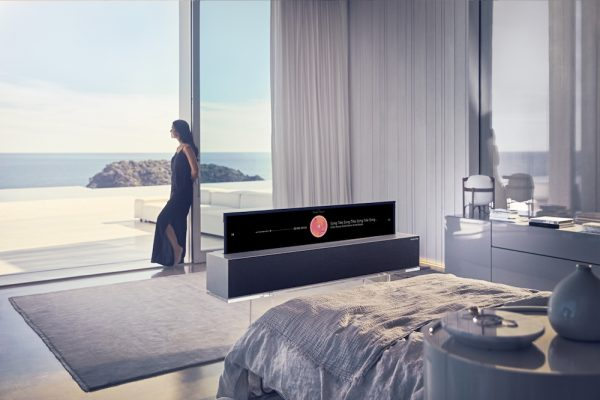 LG OLED TV R in a minimised viewing mode