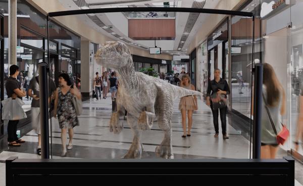 DeepFrame Screen showcasing dinosaur concept