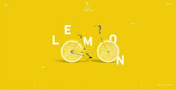 Lemon and bicycle with disrupted text