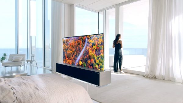 LG OLED TV R in full viewing mode