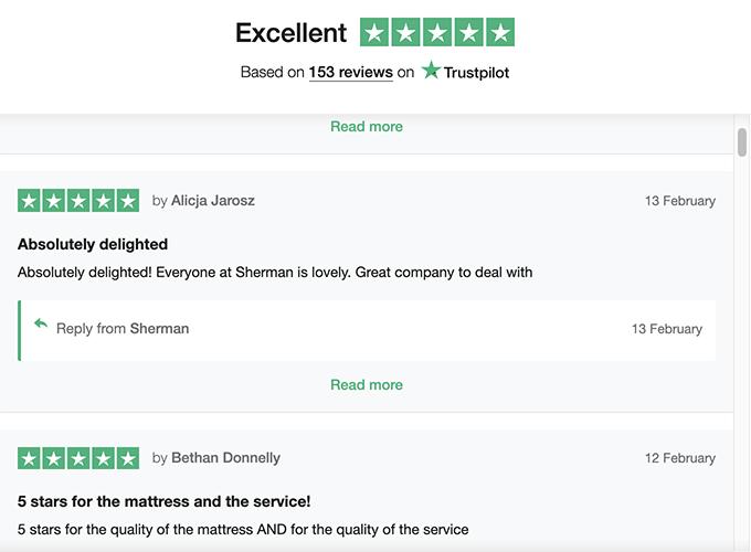 trustpilot reviews for an eCommerce site