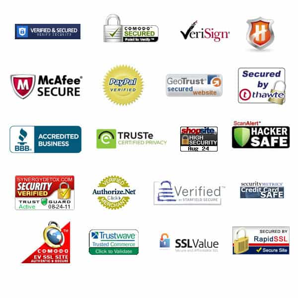 security badges for secure eCommerce website