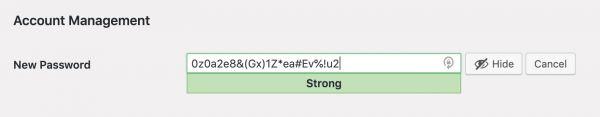 Strong Password Example