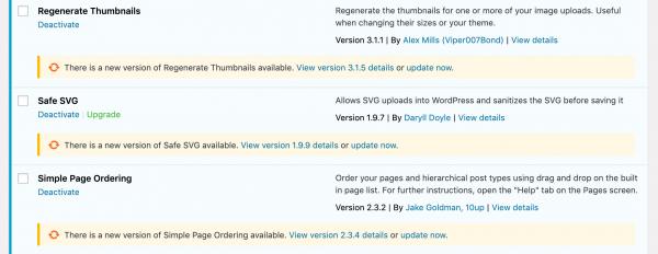 WordPress Plugins Update