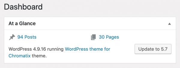 WordPress Update Dashboard