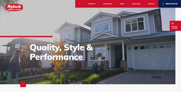 Homepage header banner showing classy home